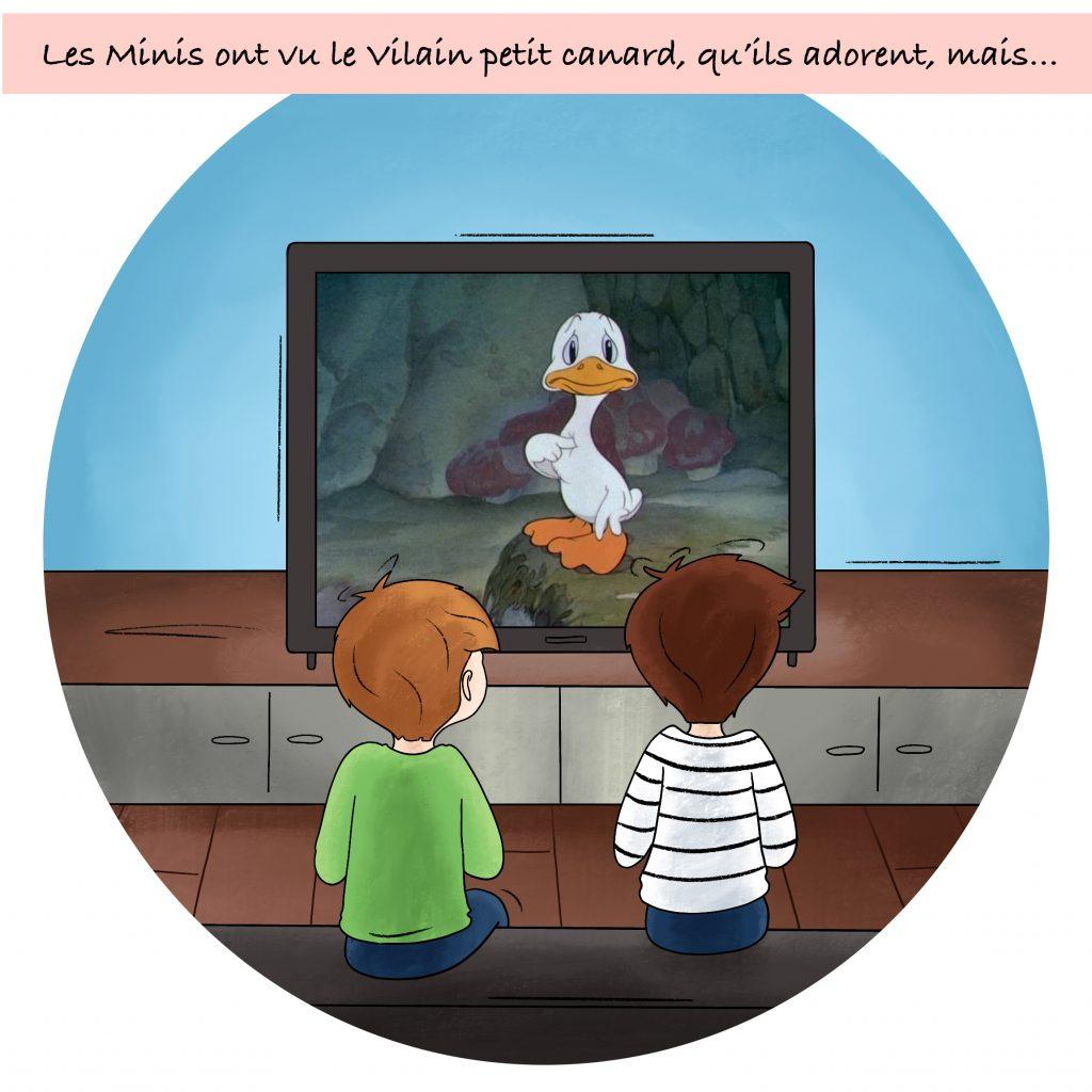 Illustration le vilain petit canard