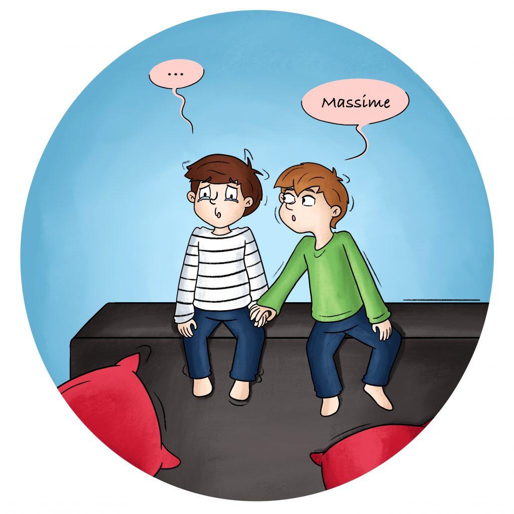 Illustration les émotions des enfants