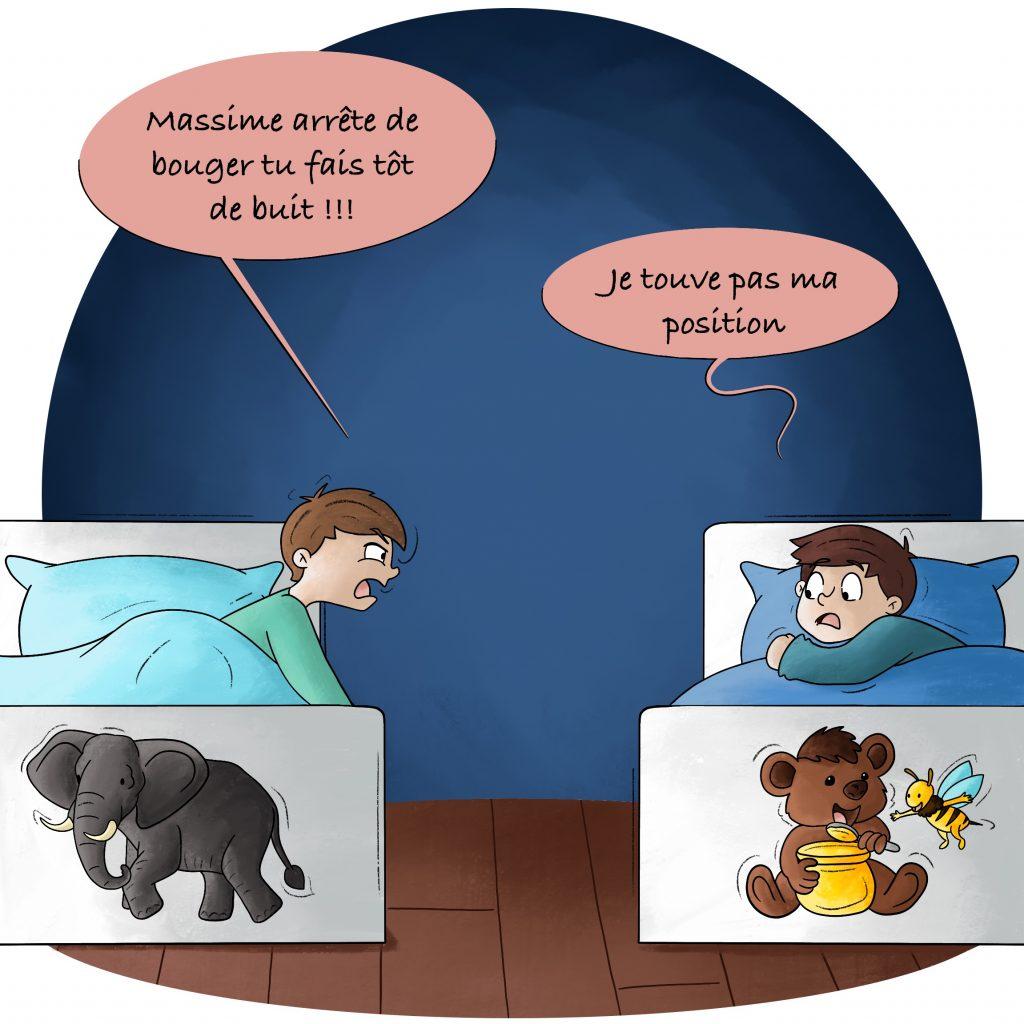 Illustration partager sa chambre