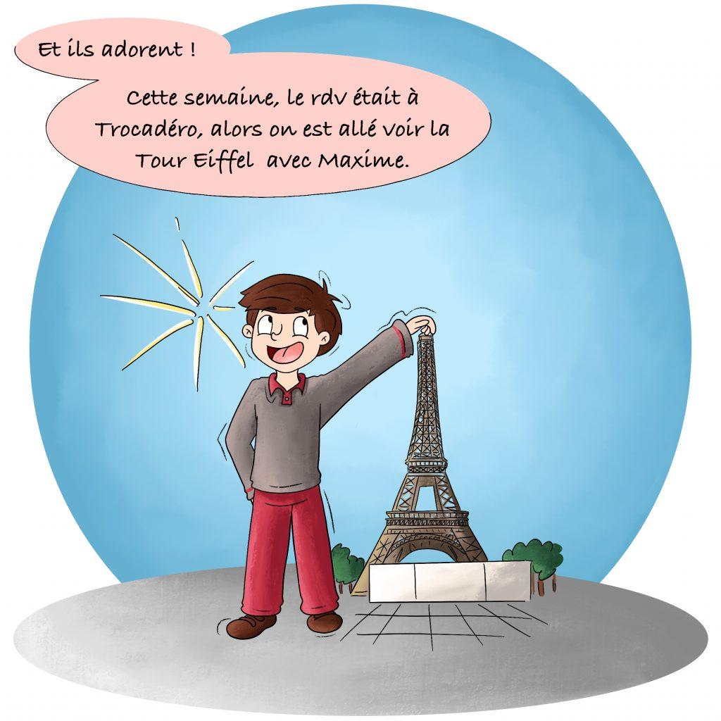 Illustration dessin la Tour Eiffel
