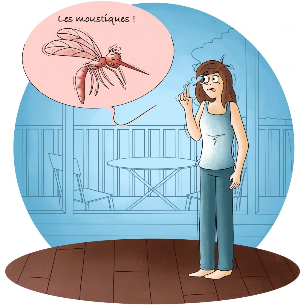 Illustration les moustiques