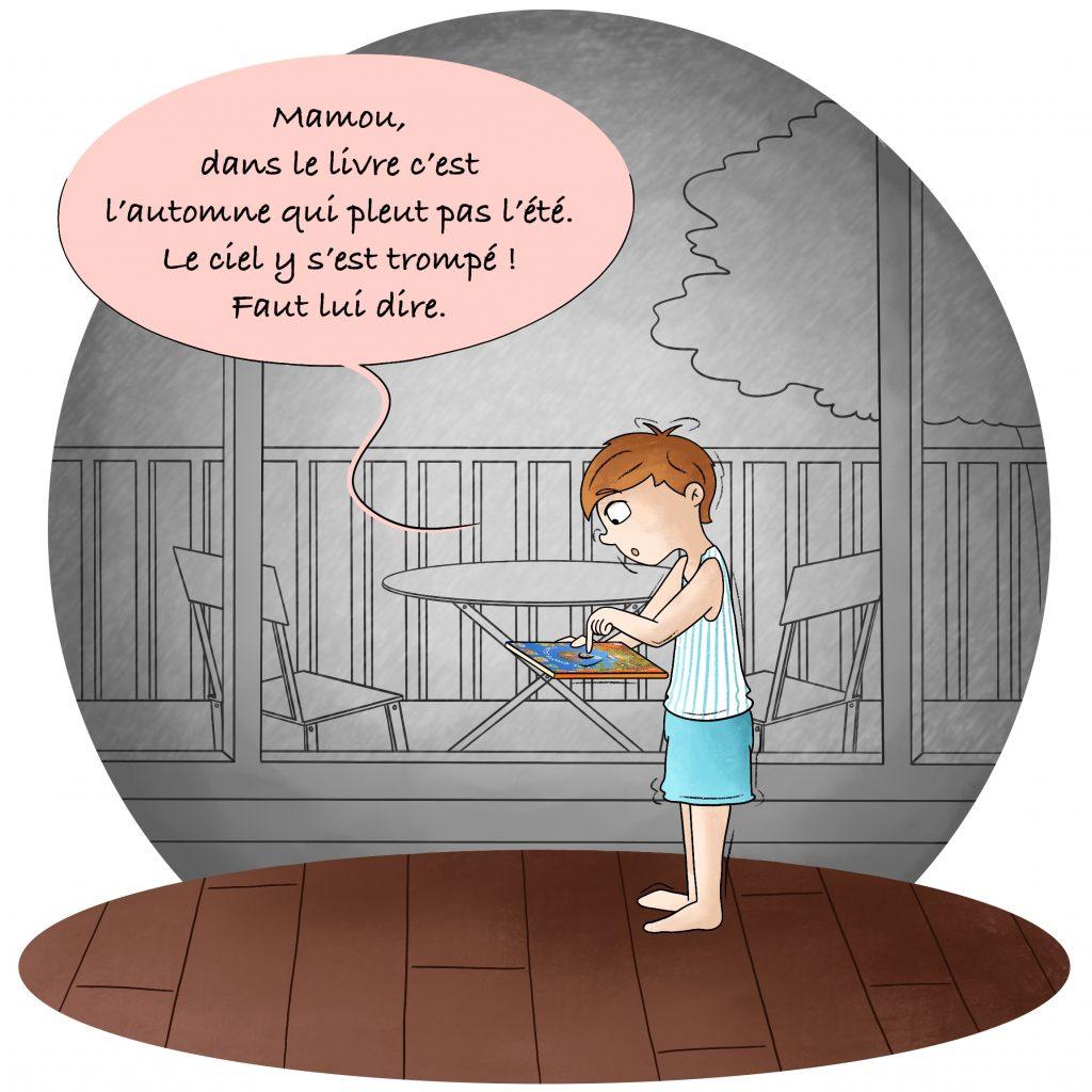 Illustration les phrases des enfants
